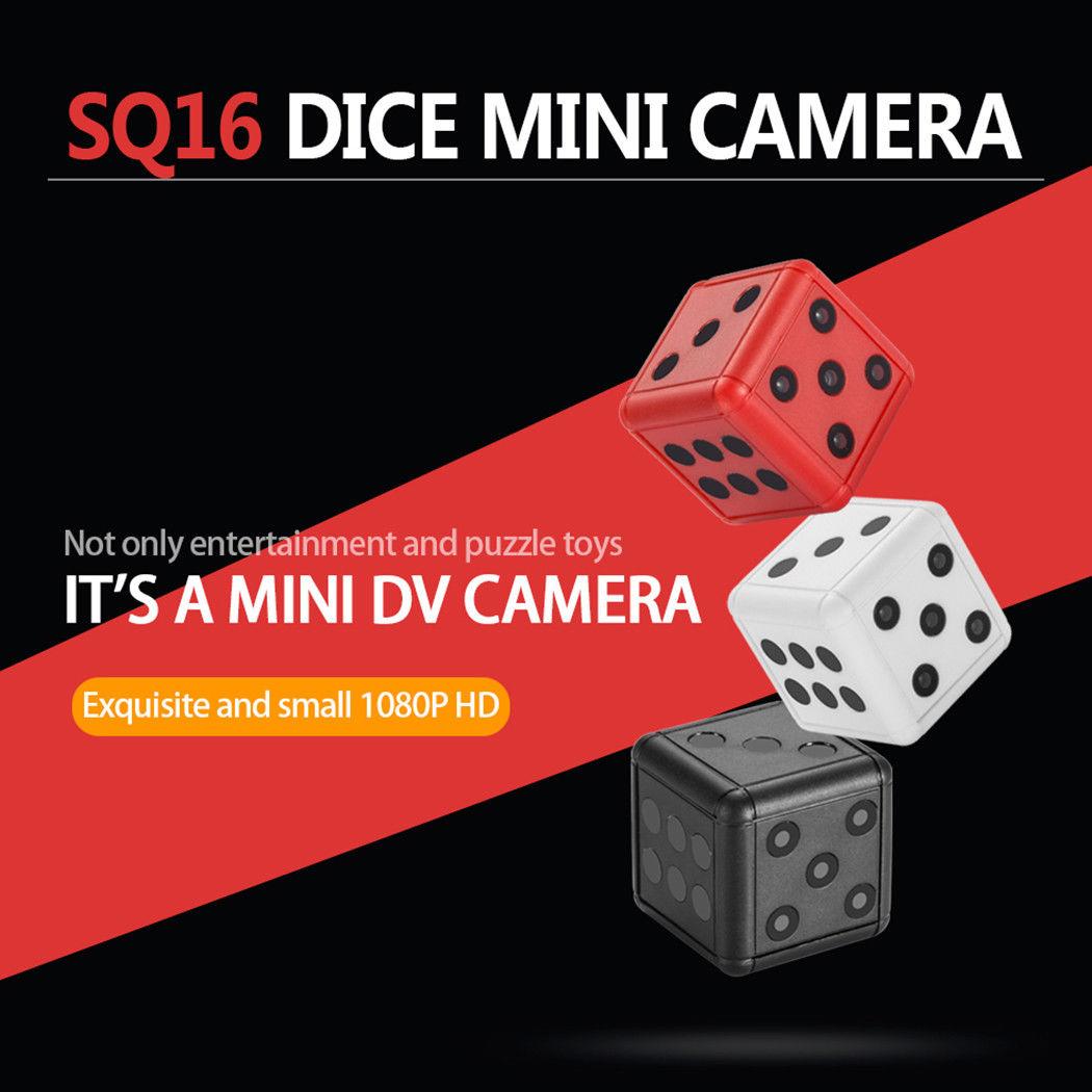 SQ16 Full HD 1080P Mini Dice Hidden DV DVR Camera Spy Dash Cam IR Night Vision