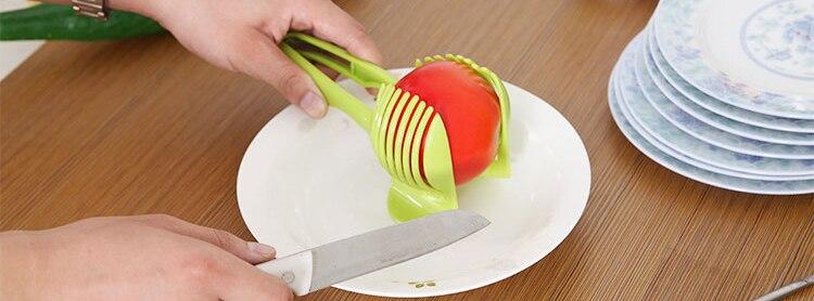 Домати Slicer ABS пластмасови резачки за - Кухня, трапезария и бар - Снимка 5