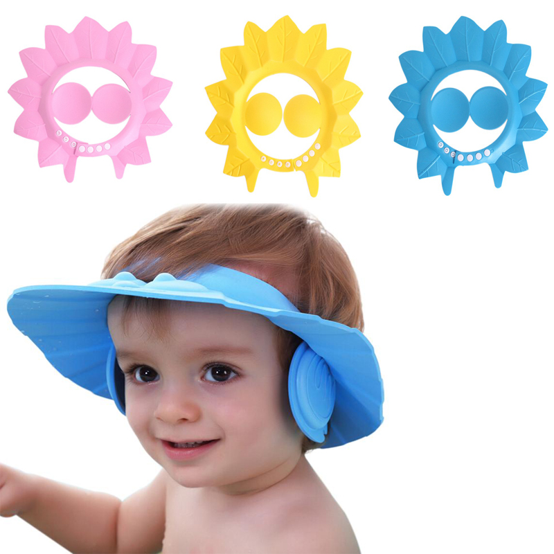 shampoo baby shower cap bathing bath protect soft cap hat for baby