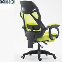 WIE REGAL computer Home office Ergonomie Mesh drehen Fußstütze WCGboss stuhl-in Bürostühle aus Möbel bei