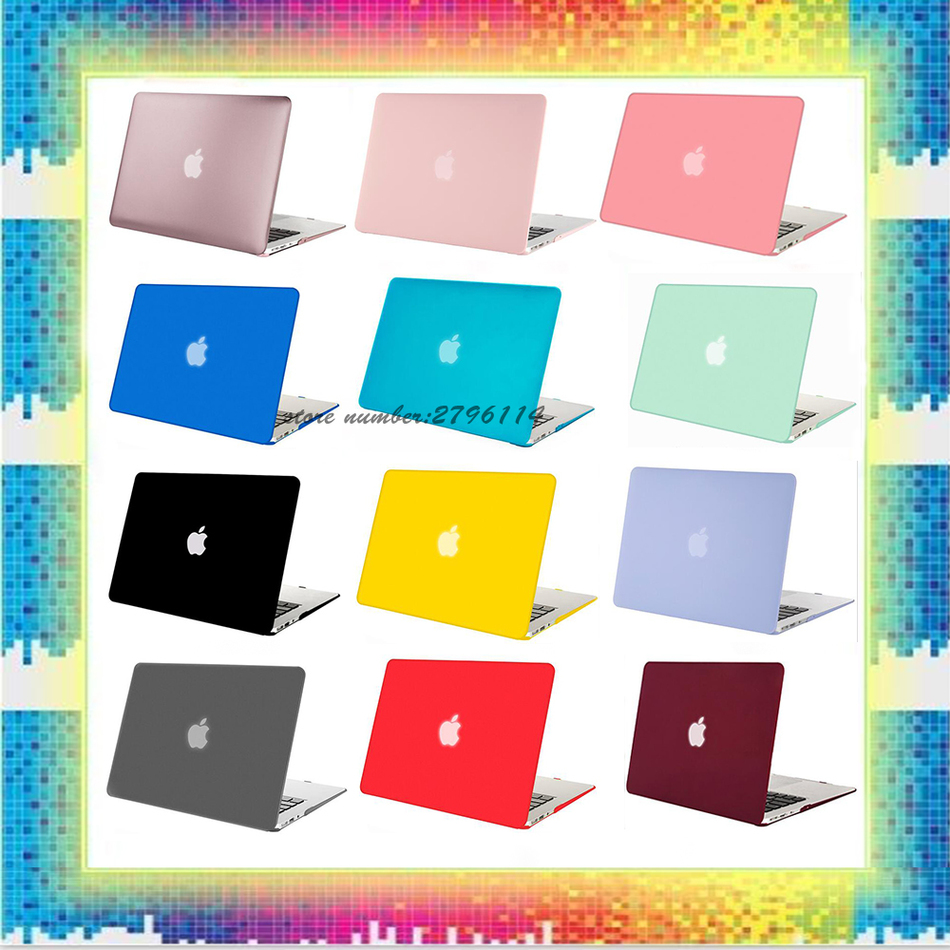 New Fashion Color Matte Case For Apple Macbook Air Pro Retina 11 12 13 15 Laptop Cover Bag For Mac book 13.3 inch