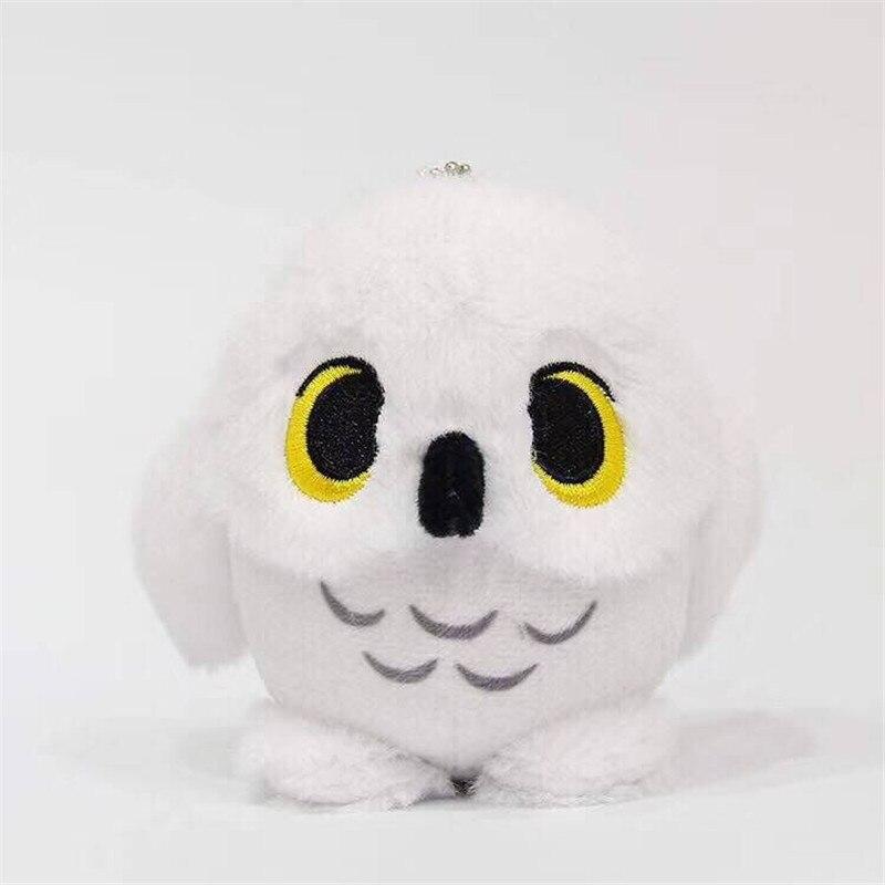 9cm Super Q Harry Potter Hedwig Snowy White Owl Plush Toy Keychain Pendant Plush Doll