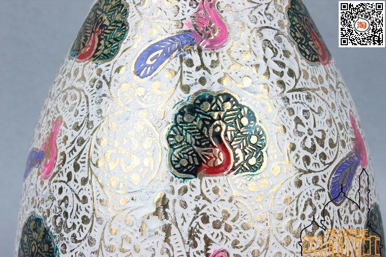 Índia importados bronze vaso de 32 cm