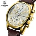 Montre Ограниченная Homme Бренд Ochstin 2017 Новый мужские Часы Кварцевые Часы Мужчины Открытый Спортивный Кожаный Ремешок Наручные Часы Мужчины Подарков