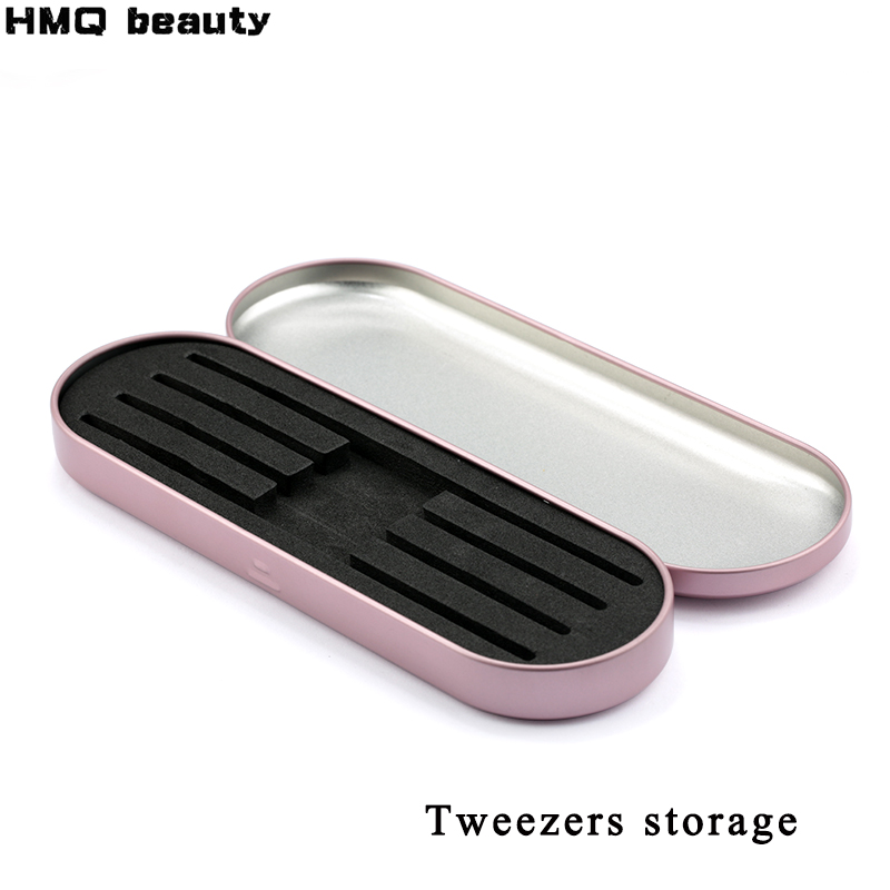 HMQ Professional Storage For Eyelash Extension Tweezers Eyelash Extension Tools Box For Tweezers Portable Safe Makeup Tools