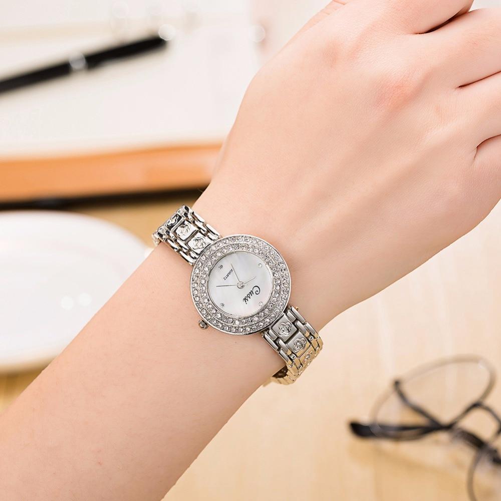 Strass Luxo Senhoras Vestido Relógios de Quartzo