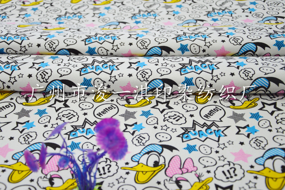 90145cm Donald Duck Daisy Duck Canvas Fabric Patchwork For Diy
