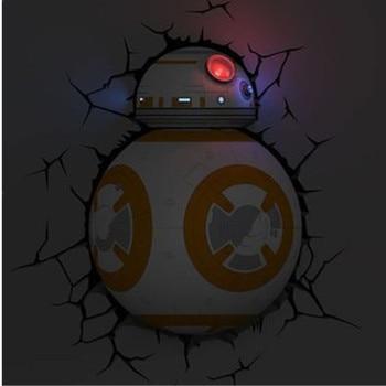 Lampe 3D Mural Star Wars Robot BB-8 Décoration