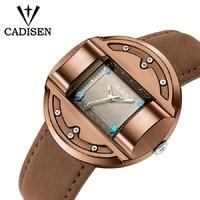 Men Watches CADISEN Luxury Brand Men's Quartz Clock Fashion Sports Army Military Creative Leather Wristwatch relogio masculino Quartz Watches