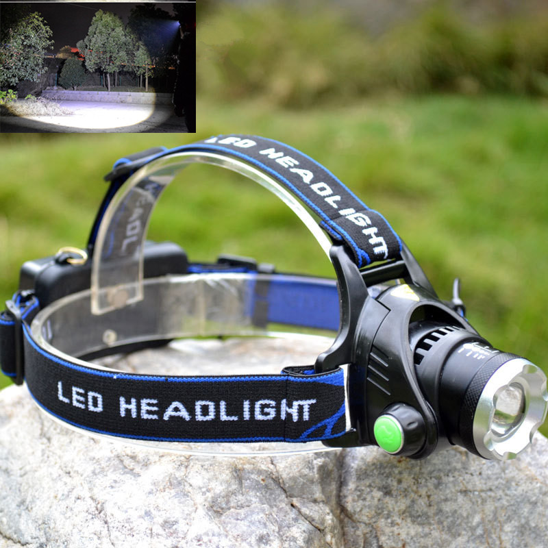2000Lm Waterproof CREE XML T6 Zoom LED Headlight Headlamp Head Lamp Light high lumen Adjust Focus