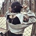 Punk Gothic fashion viento Locomotora de Ocio de europa y América Hueco Hacer la vieja chaqueta de mezclilla de La Vendimia capa Superior