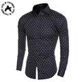 New Arrival Brand Shirt Men Long sleeve Print Polka Dot Casual Slim Fit Shirt Camisa Masculina High Quality Plus Size