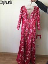 Платье с длинными рукавами и вышивкой в стиле Русалочки кружевное