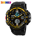 SKMEI 1148 Sports Digital Watch Men Outdoor Dual Display Wristwatches Military Waterproof PU Strap Clock Relogio Masculino