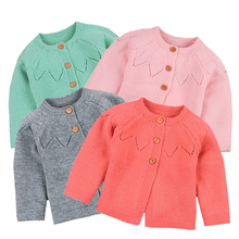 Baby Girl Sweater Cardigans Fashion Spring Autumn Long Sleeve Newborn Knitted Jackets Toddler Infant Knitwear Coats Kids Clothes