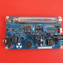 Хорошее качество Собранный DIY детектор излучения счетчик Гейгера комплект; детектор атомного излучения GM трубки Гейгера детектор излучения