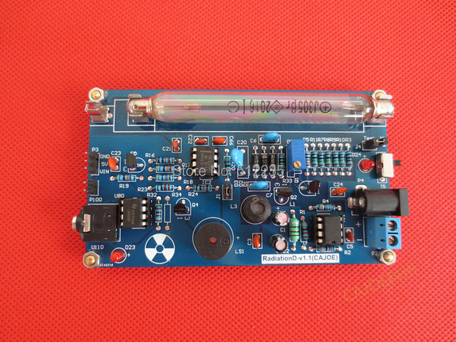 Goede Kwaliteit Gemonteerd DIY Geigerteller Kit; Nucleaire Straling Detector; GM Buis