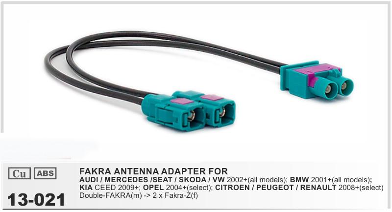 Cable adaptador Conector Radio Coche a iso OPEL 2004/> con adaptador fakra