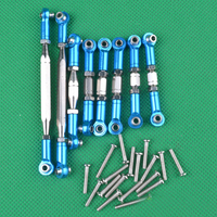 1Set WLtoys 12428 FY 03 Linkage Pull Rod Metal Steering Pushrod Tie Rods for 1:12 Off road RC Cars Connector Parts