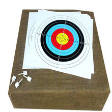 5PCS 40 * 40cm target paper darts target paper full ring practice target paper archery equipment(China)