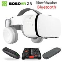 Bobo bobovr Z6 Helmet casque glasses 3D VR Virtual Reality headset for phone Google Smart glasses Lunette cardboard