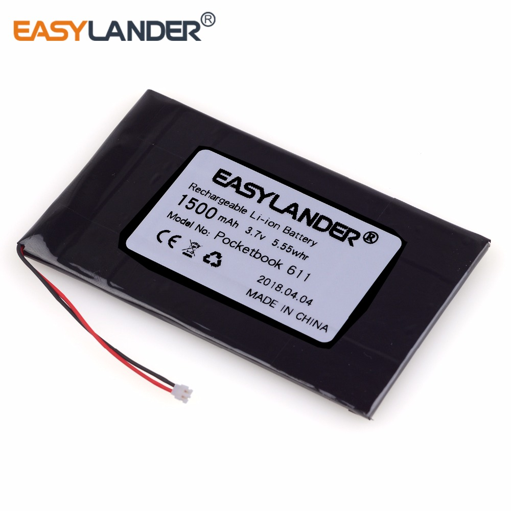 Easylander 1500mAh Li-Polymer <font><b>Batterie</b></font> Für pocketbook 601, PocketBook 611, PocketBook 613, PocketBook 623, pocketBook <font><b>625</b></font>, E-book image