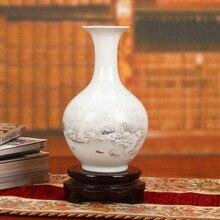 Jingdezhen ceramic vase pastel snow modern decoration design process Home Furnishing wholesale