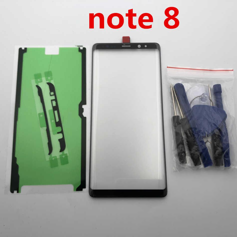 نوت 8 الأصلي استبدال LCD الجبهة شاشة تعمل باللمس الزجاج الخارجي عدسة لسامسونج غالاكسي نوت 8 N950 N950F 6.3 ''+ ملصق