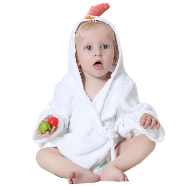 Marca Frete Grátis Bbathrobe 100% Cuttons Moda Animal Dos Desenhos Animados Do Bebê Com Capuz Roupão de Banho Super Macio Toalha Infantil Conjunto Roupão De Banho YY6