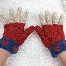 Kakaforsa Women Warm Knit Mittens Winter Touch Screen Gloves Female Crochet Thicken Full Finger Nylon New