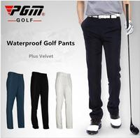 PGM Waterproof Golf Pants Men Full Length Autumn And Winter Thick Fleece Warm Golf Pants Men