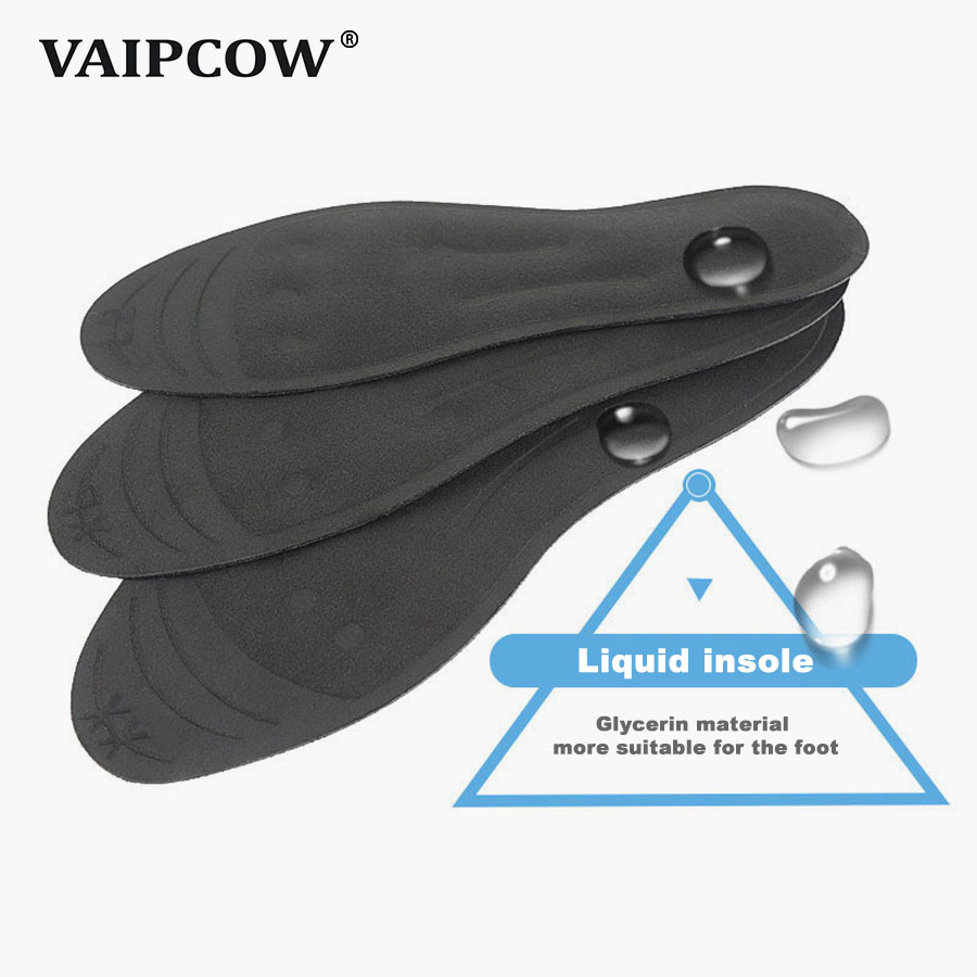 Shoes Vaipcow Liquid Glycerin Insoles Massage Insole Tpu Shock Absorption And Decompression Running Sport Insoles Men/women Sweat Pad Insoles