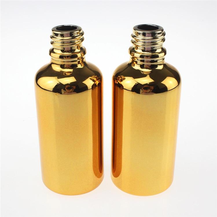 hete verkoop 100st gouden 50ml essentiële olieglasfles met gouden - Huidverzorgingstools - Foto 2