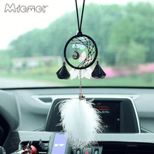 Dreamcatcher Half-Moom Car-Pendant-Decoration-Accessories Moon-Star Black MIAMOR