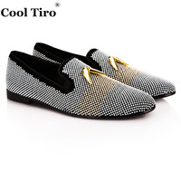 COOL TIRO New Black Cattle Suede Silver Bubble Hot Drilling Shark Tooth Handmade Wedding And Party