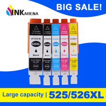 526-Ink Cartridges Canon Pixma PGI-525 MG5250 MG6150 CLI for Ip4850/Ix6550/Mg5150/..