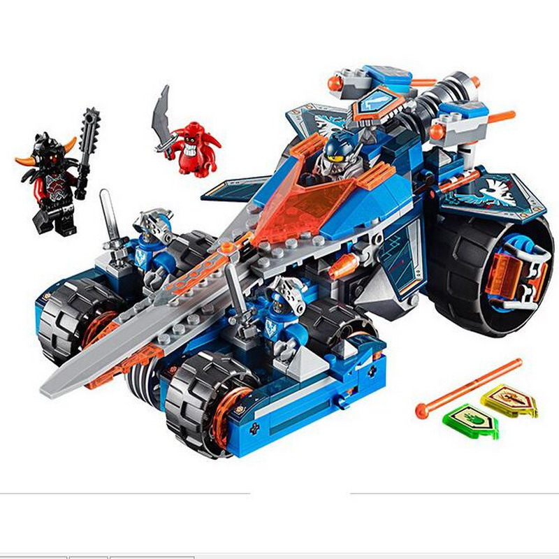 14012 LEPIN Nexo Knights Axl Clay's Rumble Blade Model Building Blocks Enlighten Figure Toys For Children Compatible Legoe Nexus decool 3117 city creator 3 in 1 vacation getaways model building blocks enlighten diy figure toys for children compatible legoe