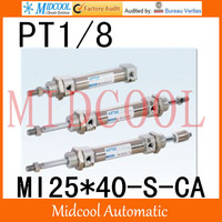 MI Series ISO6432 Stainless Steel Mini Cylinder MI25*40 S CA bore 25mm port PT1/8