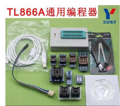 100% Original 2016 RECIÉN V6.5 minipro TL866A programador usb + 10 artículos IC Adaptadores de Alta velocidad TL866 Ruso Inglés manual