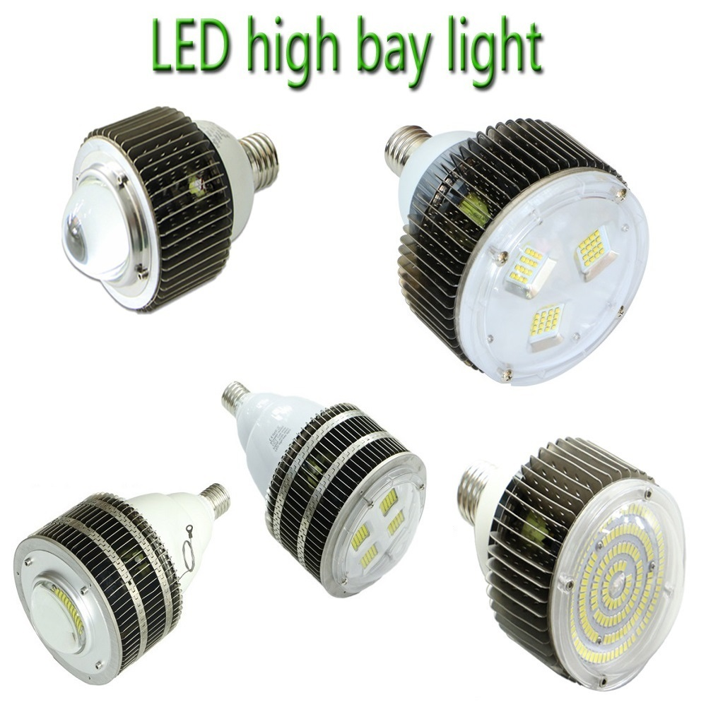 UL DLC E27 E40 Hook LED High Bay Light CREE 50W 100W 120W 150W 200W 300W 400W Gas Station Canopy Lights AC 110-277V 5pcs lot 90w led retrofit gas station lamp 60w 50w industrial canopy light fixture 100w ceiling stall 110v 120v 220v 230v 277v