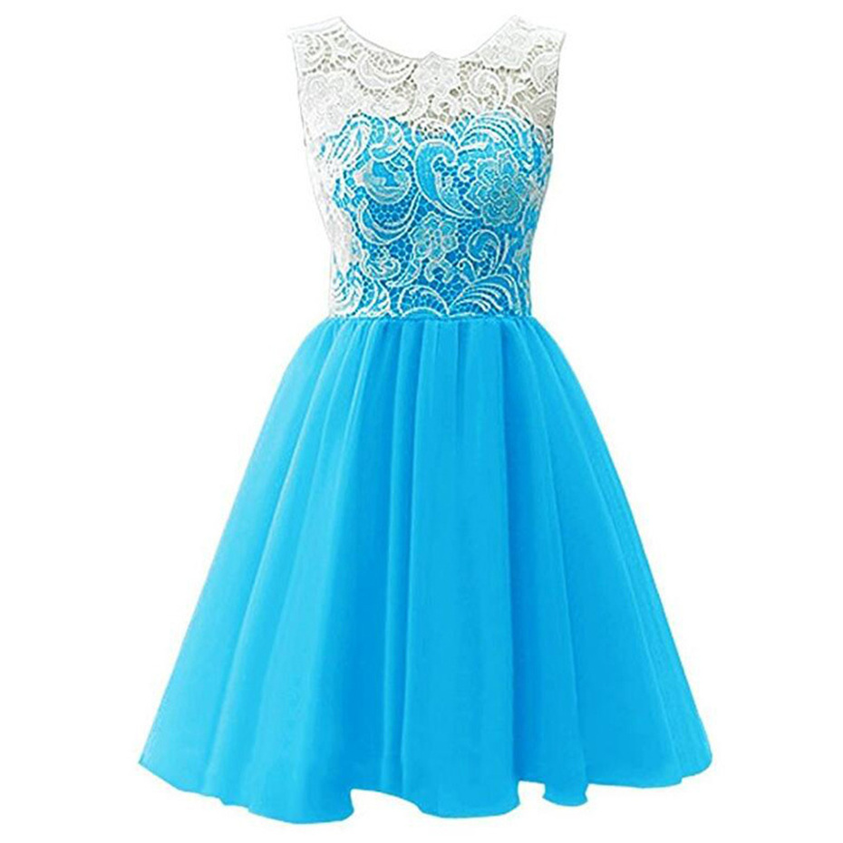 Summer Girls Blue White Purple PInk Princess Dresses Kids Girls ...