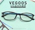 Preto-aro óculos quadro tr90 ultra-leve FEMININO masculino cara grande de vidro e miopia óptico armação de óculos óculos oculos de grau