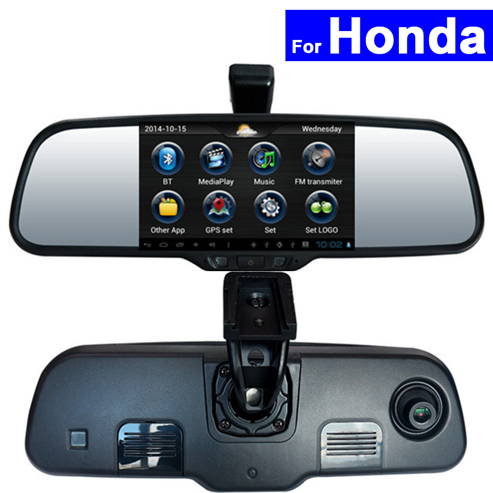Rear-View-Mirror-Dvr Android Acura Accord Auto-Monitor Bluetooth-Wifi Car GPS For Honda
