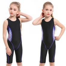 Strój kąpielowy dla dzieci dziewczyny Sport strój kąpielowy jednoczęściowy strój kąpielowy dla dziewczynek konkurs strój kąpielowy kolano dziewczyna strój kąpielowy dla dzieci strój kąpielowy tanie tanio Pasuje prawda na wymiar weź swój normalny rozmiar NYLON Stałe