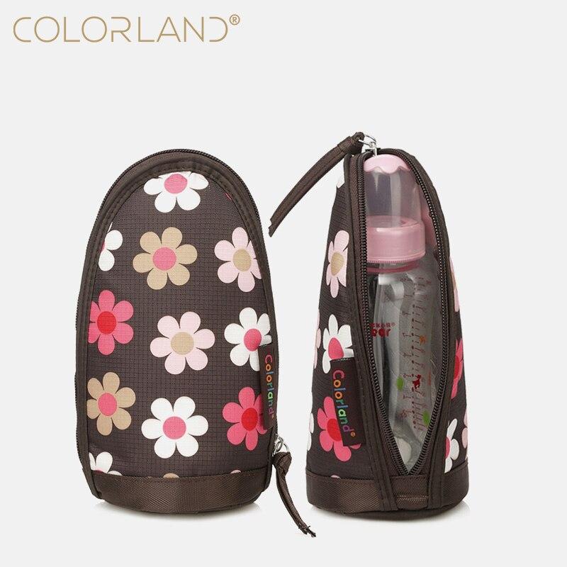 COLORLAND Baby Feeding Bottle Insulation Bag Warm Thermal Food Nursing Milk Storage Organizer Stroller Diaper Bag 240ml 4hours