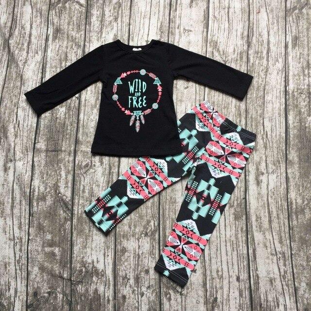 2016 girls wild free clothing babay girls Fall outfits baby girls boutiques clothing baby girls Azect pant sets long sleeve