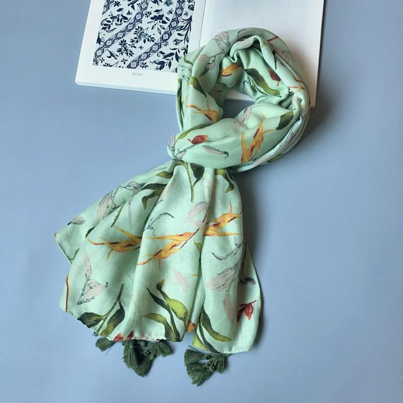 Shami e gjelbër pambuku e grave IANUS lë model të madh - Aksesorë veshjesh - Foto 2