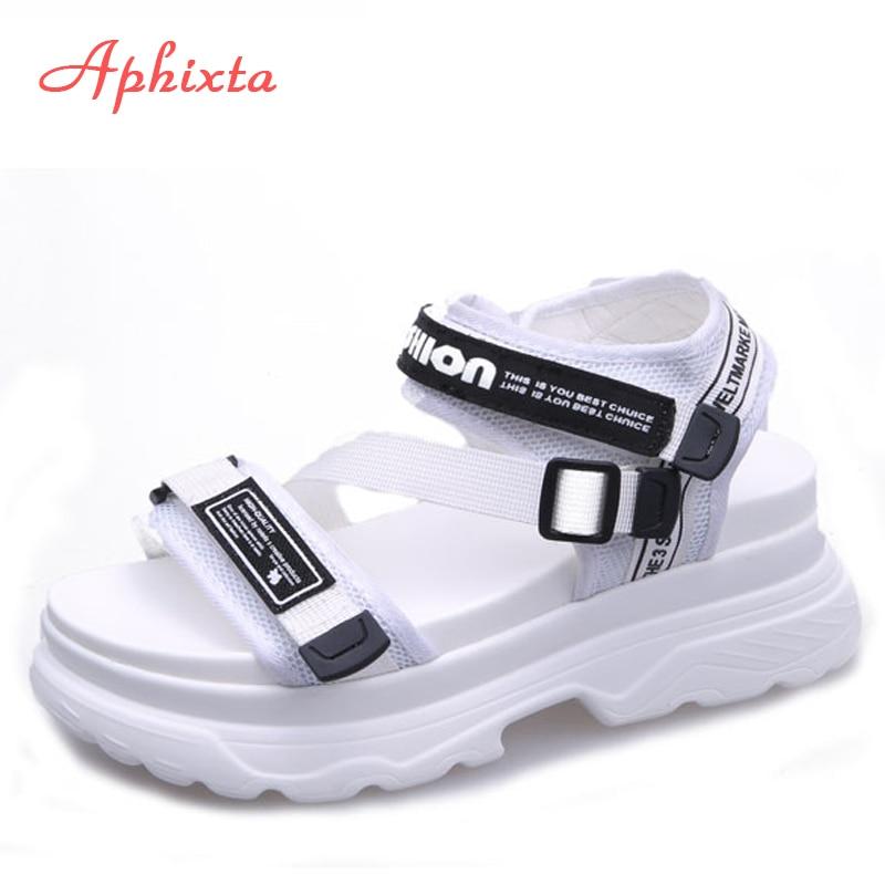 Aphixta Gladiator Platform Sandals