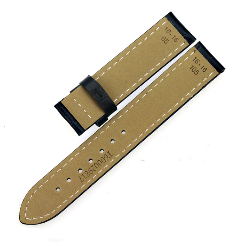 ISUNZUN New Ladies 16mm T050 Watchband Calfskin Leather Watchstraps 3 Colors Buckle Women 39 s Delicate Watchband for Tissot T050 in Watchbands from Watches