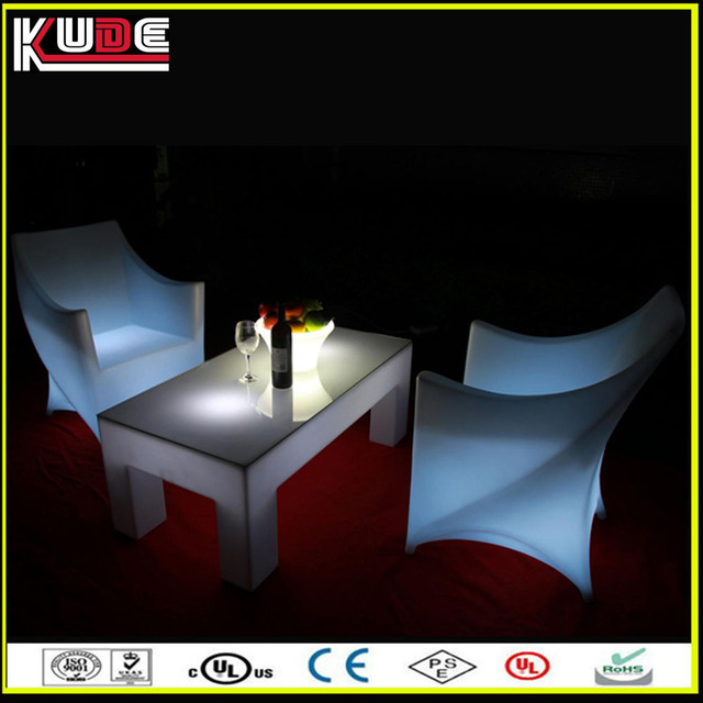 Remote Control LED Light Up Bar Table And Chairs